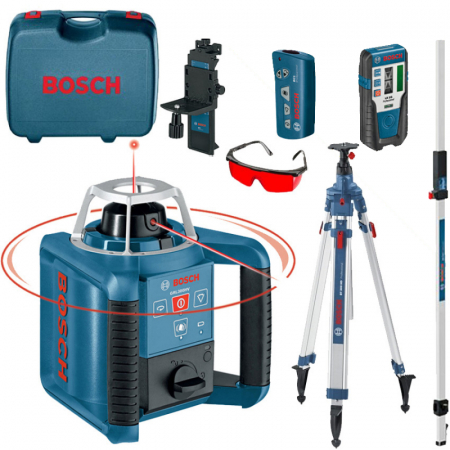 Bosch GRL 300 HVG Nivela laser rotativa + BT 300 Trepied + GR 240 Rigla0