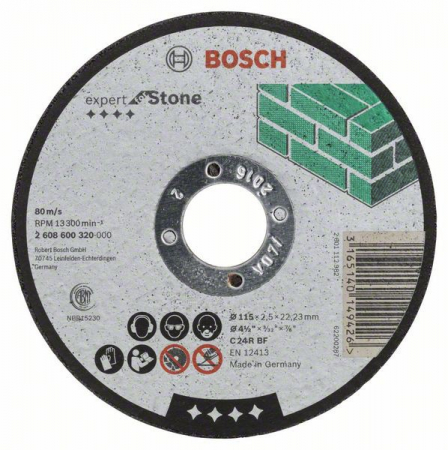 Disc de taiere drept Expert for Stone C 24 R BF, 115mm, 2,5mm [0]