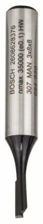 Freza dreapta, 8mm, D1 3mm, L 8mm, G 51mm 8mm, D1 3mm, L 8mm, G 51mm [0]