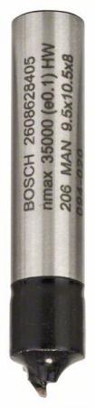 Freza pentru sfert de tor, 8mm, R1 3,2mm, D 9,5mm, L 10,2mm, G 41mm 8mm, R [0]