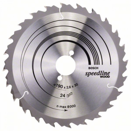 Panza de ferastrau circular Speedline Wood 190x30x2,4mm, 24 [1]