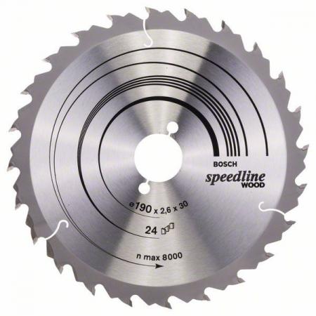 Panza de ferastrau circular Speedline Wood 190x30x2,4mm, 24 [0]