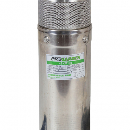 ProGARDEN 4SKM100-O pompa submersibila apa curata, 750W, 45L/min, flansa otel [1]