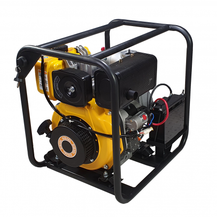 """ProGARDEN PD30E motopompa 3""""/75mm, diesel, apa curata, pornire electrica0"""