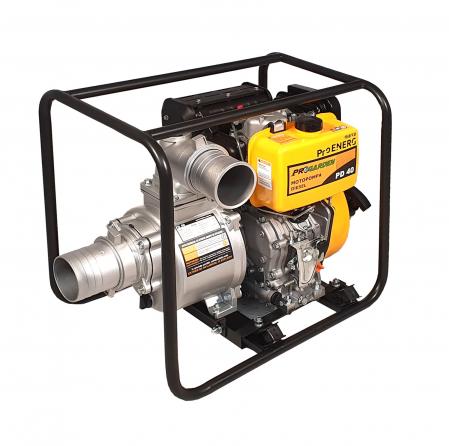 """ProGARDEN PD40 motopompa 4""""/100mm, diesel, apa curata, pornire la sfoara [0]"""