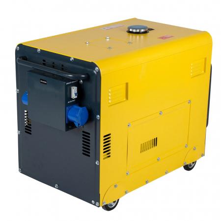Stager DG 5500S+ATS Generator insonorizat diesel 4.2kW, monofazat, 3000 rpm, cu automatizare [2]