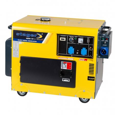Stager DG 5500S+ATS Generator insonorizat diesel 4.2kW, monofazat, 3000 rpm, cu automatizare [1]