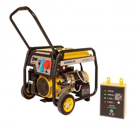 Stager FD 10000E3+ATS generator open-frame 8kW, trifazat, benzina, automatizare [0]