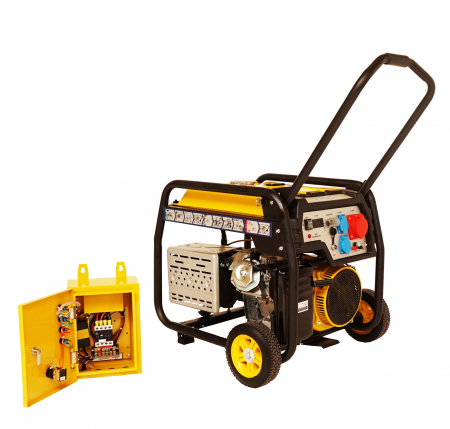 Stager FD 10000E3+ATS generator open-frame 8kW, trifazat, benzina, automatizare [1]