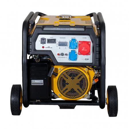 Stager FD 10000E3 generator open-frame 8kW, trifazat, benzina, pornire electrica [2]