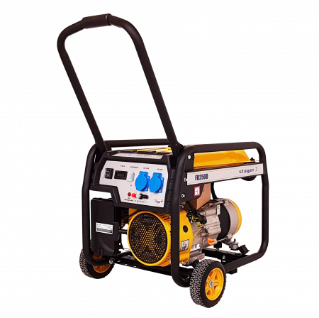 Stager FD 2500 generator open-frame 2kW, monofazat, benzina, pornire la sfoara [0]