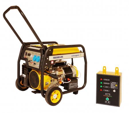 Stager FD 6500E+ATS generator open-frame 5kW, monofazat, benzina, automatizare [0]