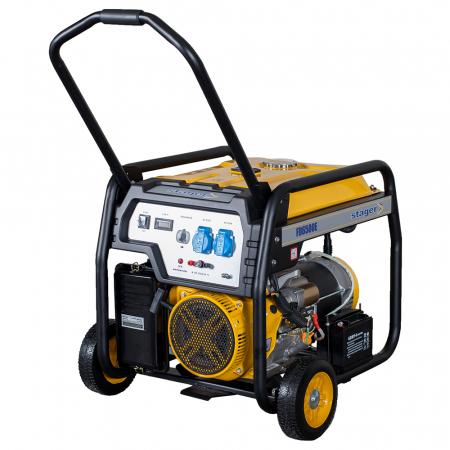 Stager FD 6500E generator open-frame 5kW, monofazat, benzina, pornire electrica [0]