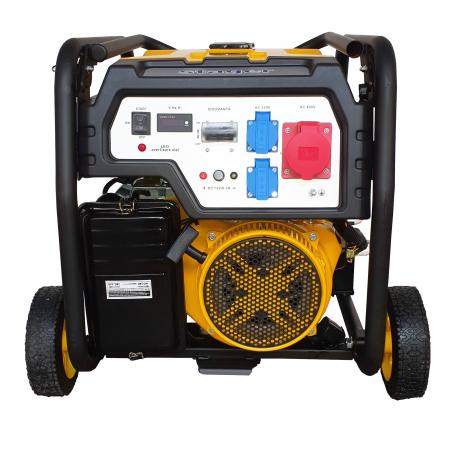 Stager FD 7500E3 generator open-frame, 6kW, trifazat, benzina, pornire electrica [0]