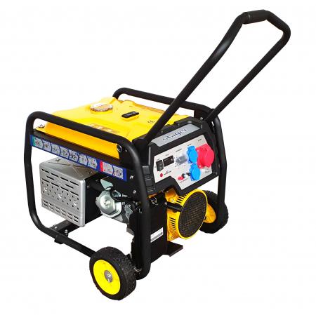 Stager FD 7500E3 generator open-frame, 6kW, trifazat, benzina, pornire electrica [2]
