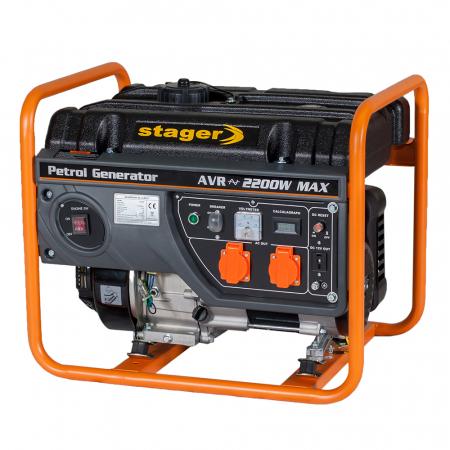 Stager GG 2800 generator open-frame 2kW, monofazat, benzina, pornire la sfoara [1]