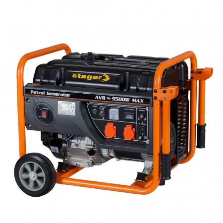 Stager GG 6300W generator open-frame 5kW, monofazat, benzina, pornire la sfoara [1]