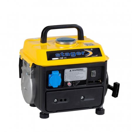 Stager GG 950DC generator open-frame 0.72kW, monofazat, amestec ulei/benzina, pornire la sfoara [0]