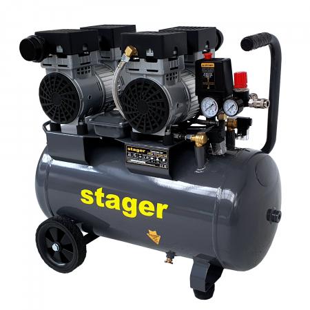 Stager HM0.75x2JW/50 compresor aer, 50L, 8bar, 330L/min, monofazat, angrenare directa, silentios [0]