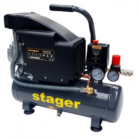 Stager HM1010K compresor aer, 6L, 8bar, 126L/min, monofazat, angrenare directa [2]