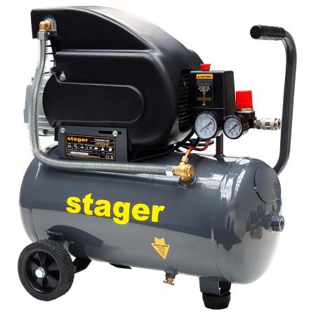 Stager HM2024F compresor aer, 24L, 8bar, 200L/min, monofazat, angrenare directa [2]