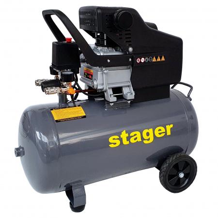 Stager HM2050B compresor aer, 50L, 8bar, 200L/min, monofazat, angrenare directa [1]