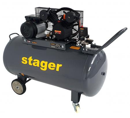 Stager HMV0.25/250 compresor aer, 250L, 8bar, 250L/min, monofazat, angrenare curea [2]