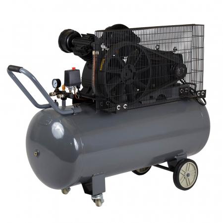 Stager HMV0.6/200 compresor aer, 200L, 8bar, 600L/min, trifazat, angrenare curea [1]