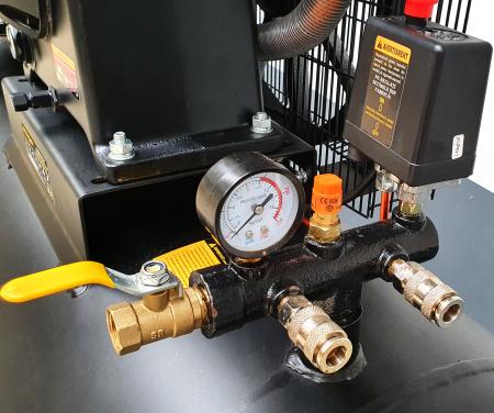 Stager HMV0.6/370-10 compresor aer, 370L, 10bar, 600L/min, trifazat, angrenare curea [1]