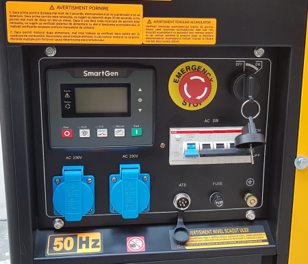 Stager YDE12E3 Generator open frame diesel trifazat, 8kW, pornire la cheie0