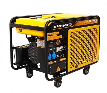 Stager YDE12E3 Generator open frame diesel trifazat, 8kW, pornire la cheie1