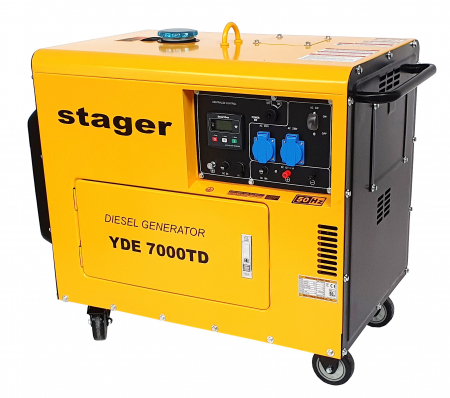 Stager YDE7000TD Generator insonorizat diesel monofazat 4.2kVA, 18A, 3000rpm + automatizare YA40063 inclusa0
