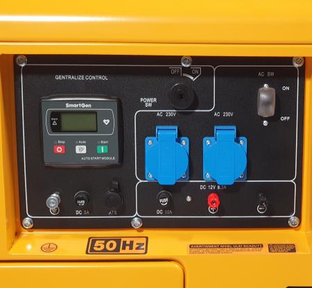 Stager YDE7000TD Generator insonorizat diesel monofazat 4.2kVA, 18A, 3000rpm + automatizare YA40063 inclusa2