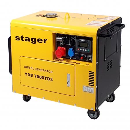 Stager YDE7000TD3 Generator insonorizat diesel trifazat 5.2kVA, 8A, 3000rpm [1]