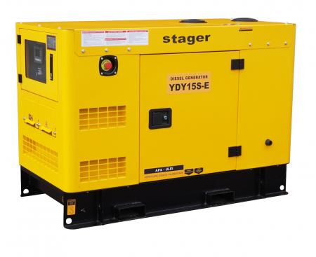 Stager YDY15S-E Generator insonorizat diesel monofazat 14kVA, 57A, 1500rpm [1]