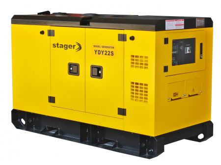 Stager YDY22S Generator insonorizat diesel monofazat 20kVA, 87A, 1500rpm1