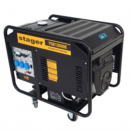 Stager YGE12000E Generator open frame 10.0kW, monofazat, benzina, pornire electrica0