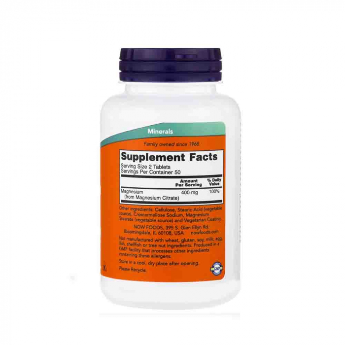 Magnesium Citrate 200mg, Now Foods, 100 tablete [2]
