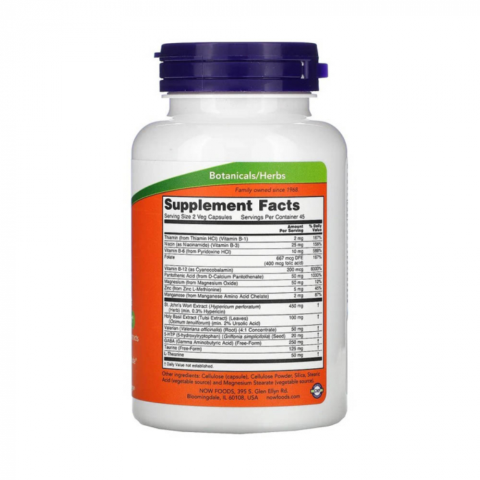Mood Support with St. John's Wort, Now Foods, 90 capsule [2]