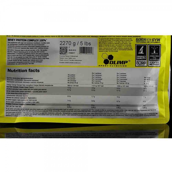 Whey Protein Complex 100%, Olimp nutrition, 2270g [2]