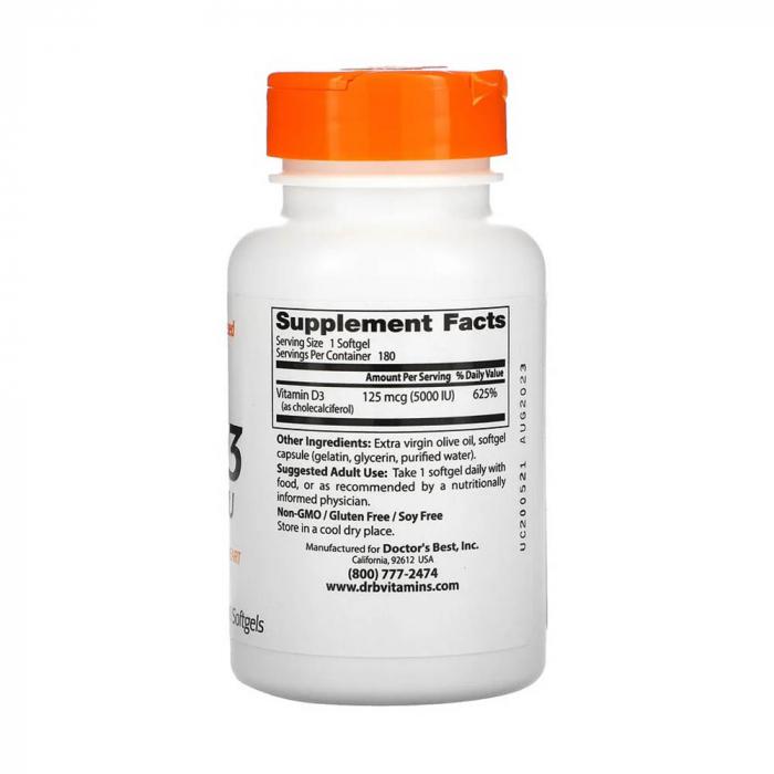 Vitamin D3, 5000 IU - 180 softgels [2]