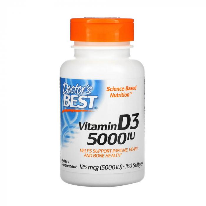 Vitamin D3, 5000 IU - 180 softgels [0]