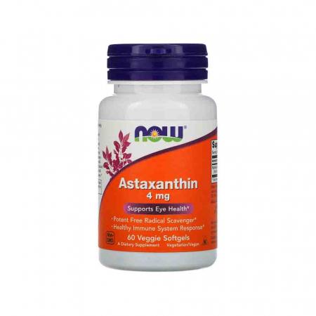 Astaxanthin, (Antioxidant) , 4 mg,Astaxantina Now Foods, 60 softgels [0]