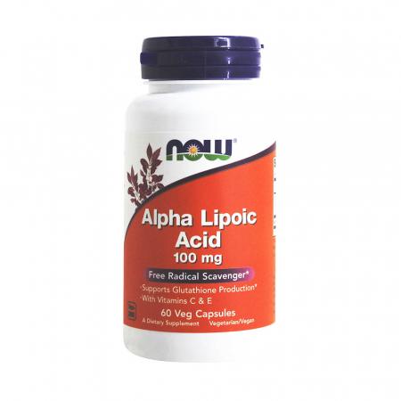 Alpha Lipoic Acid ALA, 100mg, Now Foods, 60 capsule