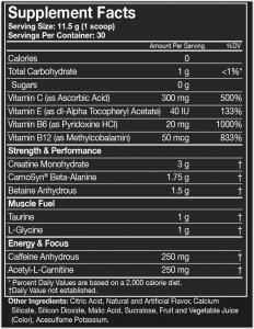Assault Energy + Endurance, MusclePharm, 345g [1]