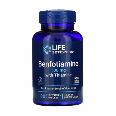 Benfotiamine with Thiamine, 100mg, Life Extension, 120 capsule