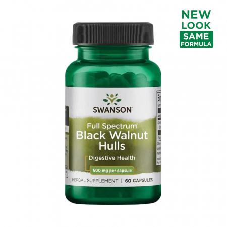 Black Walnut Hulls (Coaja de Nuca Neagra) 500mg, Swanson, 60 capsule SW1362