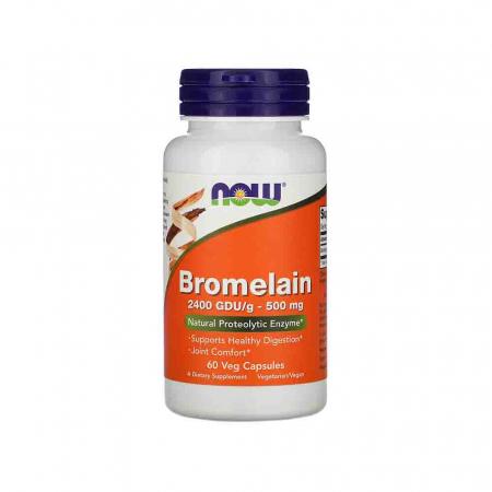 Bromelain (Enzima), 500mg, Now Foods, 60 capsule