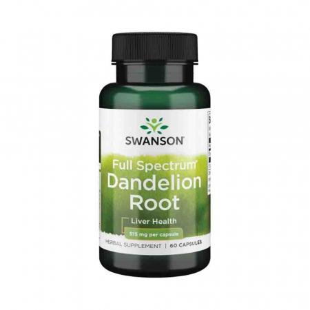 Dandelion Root (Papadie), 515mg, Swanson, 60 Capsule SW1336