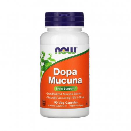 Dopa Mucuna (Dopamina), Now Foods, 90 capsule